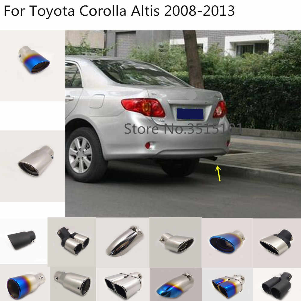 car body styling cover muffler pipe outlet dedicate exhaust tip tail 1pcs for toyota corolla altis 2008 2009 2010 2011 2012 2013