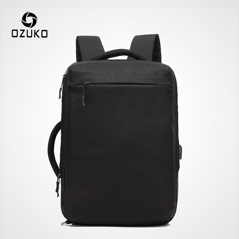 OZUKO New Men Laptop Backpack Water Repellent Schoolbag For Teenager Student Casual Style Backpack Women Travel Mochila Rucksack