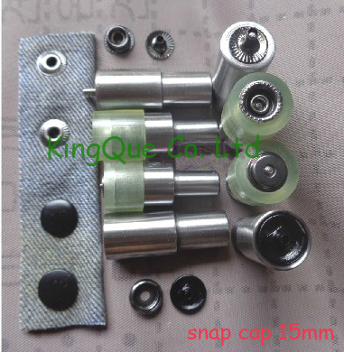 free shipping 15mm Snap fastener tool 201 snaps die sets ...
