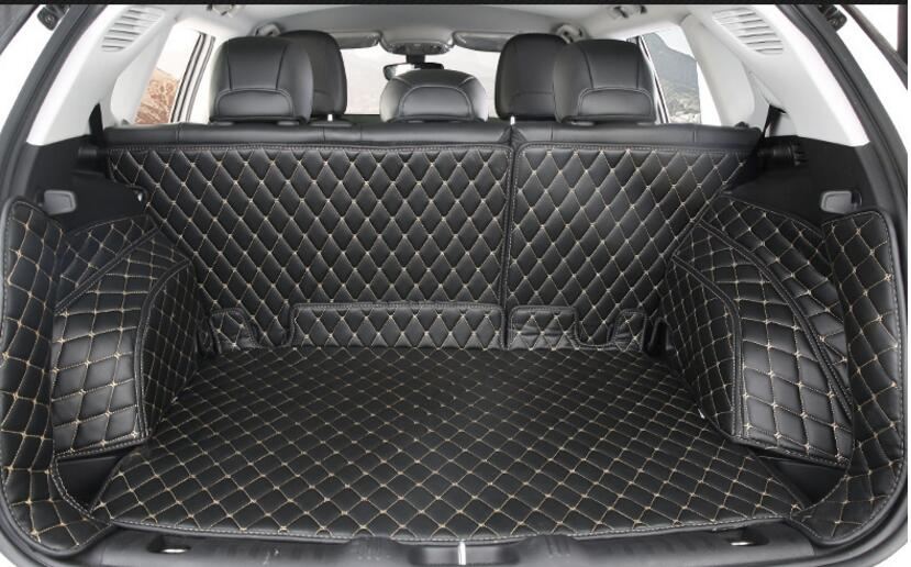 3 Colors 7 pcs Car Auto Special Trunk Mats for Jeep Compass durable boot carpets car accessories