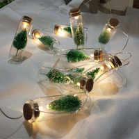 1M 10pcs Mini Albero Di Natale LED Luci Leggiadramente Della Stringa Bottiglia di Vetro Del Pendente di Natale Ghirlanda di Natale Decorazioni per la Casa regalo di nuovo Anno
