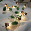 1M 10pcs Mini Christmas Tree LED String Fairy Lights Glass Bottle Pendant Natale Garland Xmas Decorations for Home New Year Gift