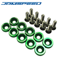 Aluminum GREEN Fender Washers For JDMSPEED Honda Civic Integra RSX EK 10 PCS