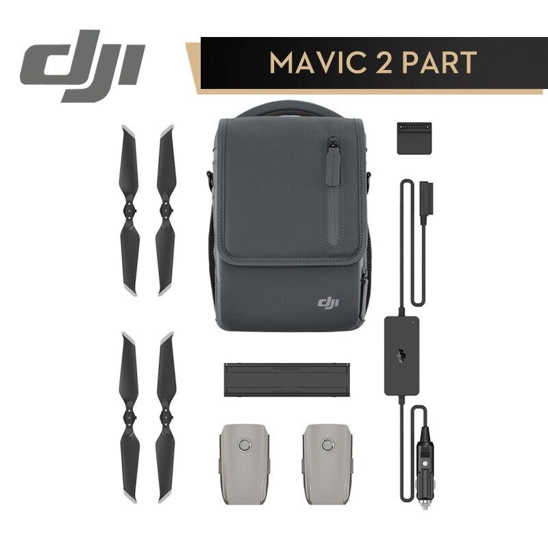 DJI Mavic 2 Pro/Zoom Voler Plus Kit Comprend Chargeur De Voiture De Charge Hub Intelligent Batterie Rapide-Libération Hélice épaule Sac