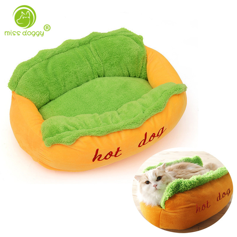 Hot Dog Design Dog Bed Pet Winter Beds Fashion Sofa Cushion Supplies Warm Dog House Pet Sleeping Bag Cozy Puppy Nest Kennel