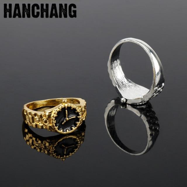 New Design Gorgeous Jewelry Enamel Watch Pattern Ring Men Women