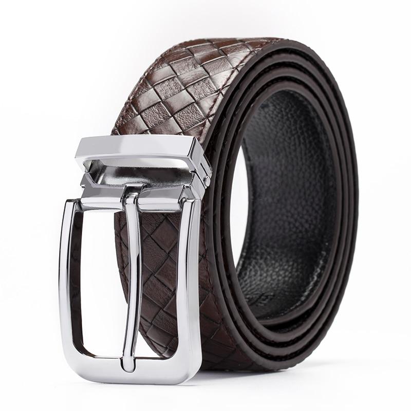 genuine leather male   belt   for men strap pin buckle cowhide Luxury brand men's   belt   Black classice designer   belt   men high quality