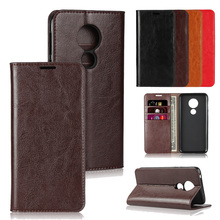 LUCKBUY For Motorola Moto G7 G6 G5S Plus Top Quality Classic Business Genuine Leather Flip Cover for Power moto