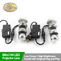 2PCS H4 Mini LED Projector Lens For Hyundai Solaris 2011 2016 SNCN DC 12V 35W 8000LM