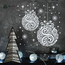 YOYOYU Wall Decal Merry Christmas Pendant Star Holiday Sticker Mural Festival Snowflake Decor Adesivo GY54