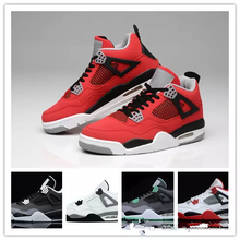 37c50ce6a393 Wholesale 4 white cement Bred Fire red IV 4s Men Women Basketball Shoes  sneakers sports trainers