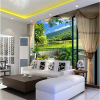 Custom 3d Fashion Mural Wallpaper Visual Green Grass Flowers Simple Style Bedroom Living Room Photo Wallpaper