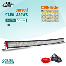 CO LIGHT 12D 52 inch 924W Curved LED Work Light Bar 12V Combo Led Bar for Auto Boat Offroad 4x4 Car Truck SUV ATV Led Light Bar co light 12d led bar curved 405w led light bar 32led light bar strobe work light combo led auto lamp for atv jeep truck offroad