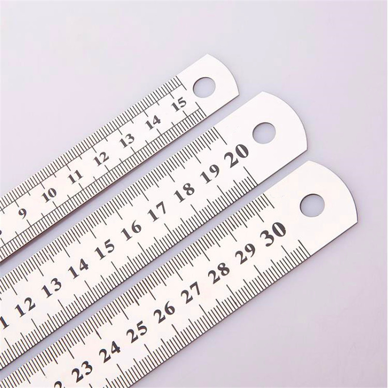 15-30 Cm Double Side Scale Stainless Steel Straight Ruler Measuring Tool For Students  Stationery Gift For Sewing