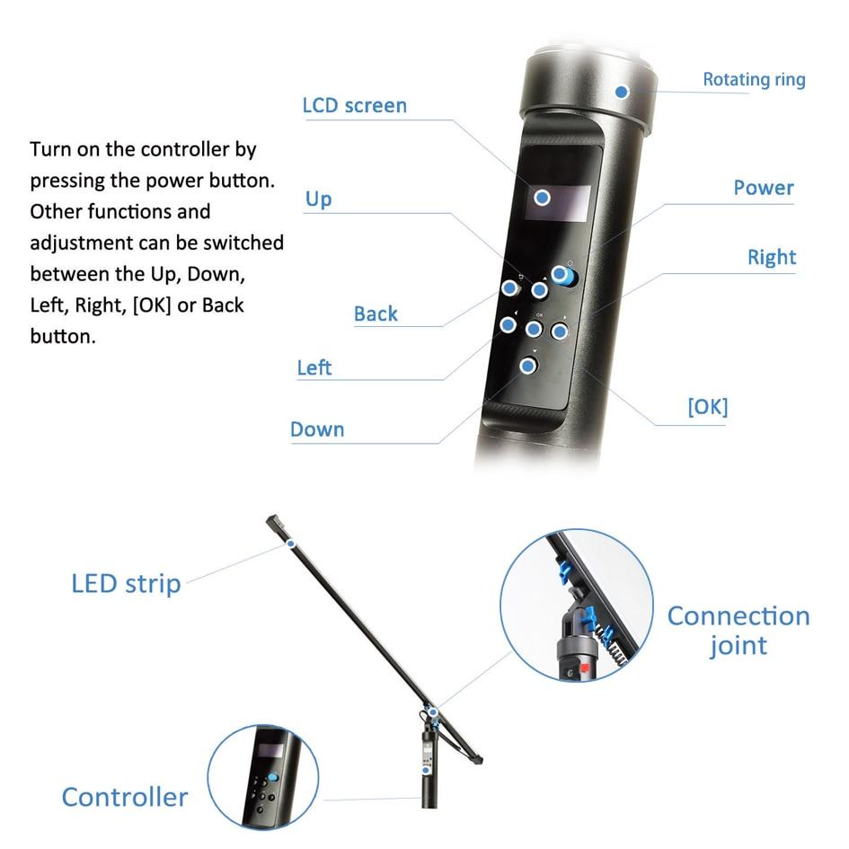 144 LEDs licht De All In One Light Remote Magic Light Flash Plot Stok Schilderij Tool Animatie Blink voor Fotografie CD30 - 3