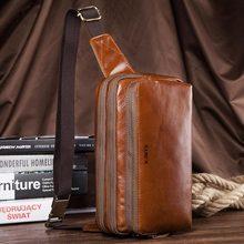 Genuine Leather Chest Bag Shoulder Bag
