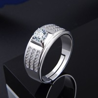 New s925 sterling silver ring domineering diamond ring men's jewelry free shipping