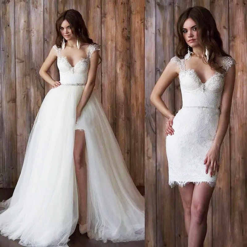 2 in 1 prom dress long a-line bridal prom gowns detachable prom dress vestidos de noiva long women elegant long prom dresses