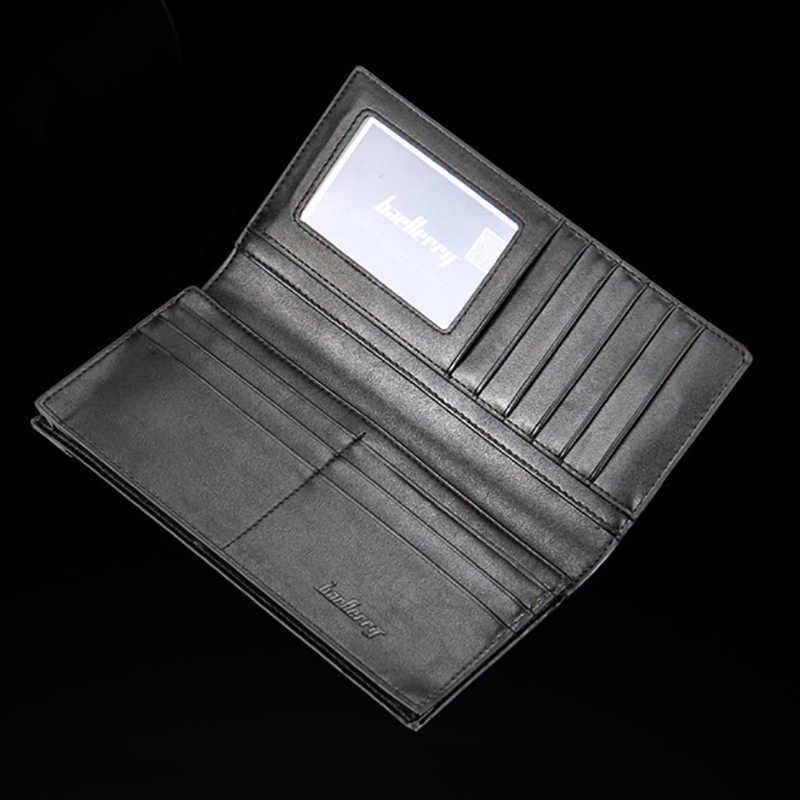 Merk Casual Hot Koop mannen Portefeuilles Lange Koreaanse Stijl Gevlochten patroon portemonnee Multi-card beetje Portemonnee luxe portemonnee lederen Mannen