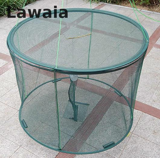 Lawaia shrimp cage Aquarium Trap Net Folding shrimp fishing cage Crab Trap foldable fishing trap cast net crab fish shrimp cage quality gill net h5 l95m 3layer 3 5 and 19cm mesh sink net fish trap sticky fishing net outdoor pesca reservoir fishing network
