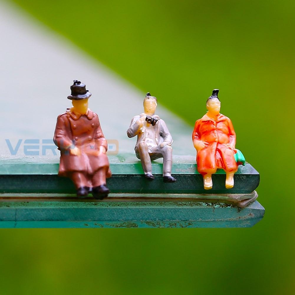 U.TECHU.TECH 100 Painted Model Train Railway Seated People Passengers Figures 1:87 HO Scale Free Shipping