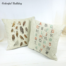 Decorative Pillows For Home Sofa Car Seat Narwhal Polar Bear Snowy Owl Orca Disnosaur Sloth Rabbit Owl Whale Cushion Cover Brand