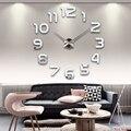 Настенные часы для гостиной  3d акриловые часы с зеркальной наклейкой  Современные Кварцевые часы «сделай сам»  2019