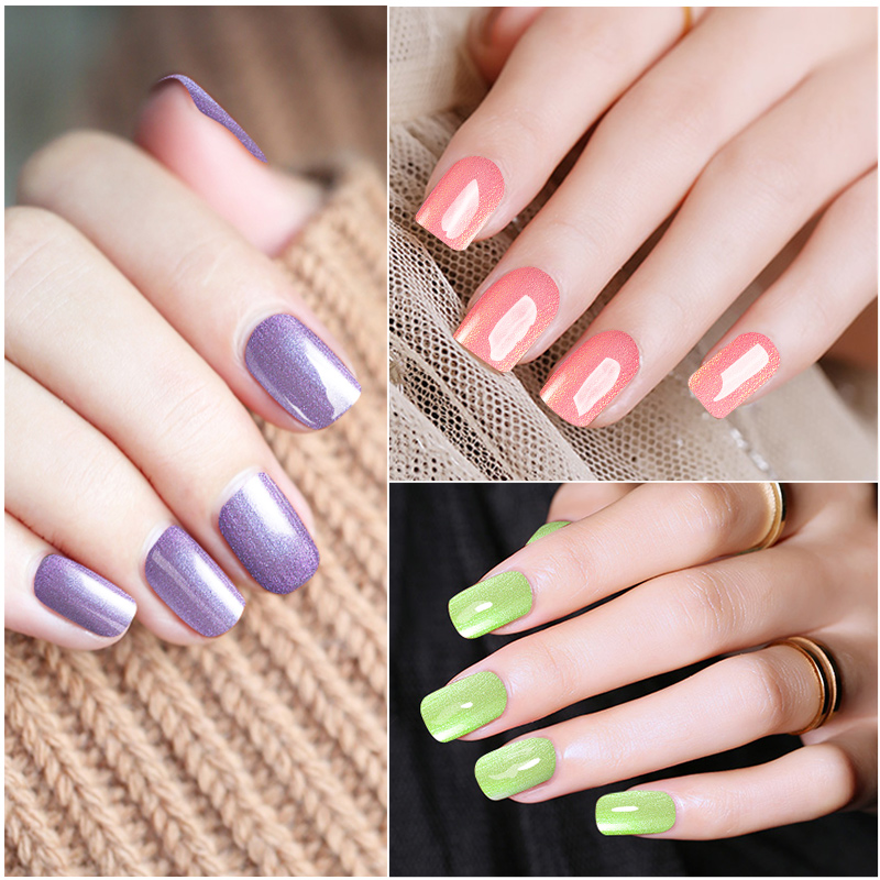 Ellwings Newest Pearl Color Gel Varnish Nail Art Salon Diy
