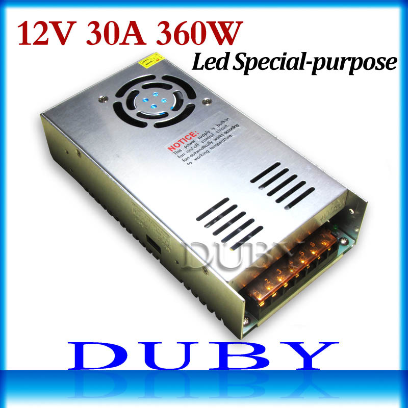 12 V 30A 360 W controlador de fuente de alimentación de conmutación para pantalla de tira de luz LED AC200-240V envío gratis