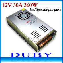 12V 30A 360W Switching power supply Driver For LED Light Strip Display AC200-240V Free shipping(China (Mainland))