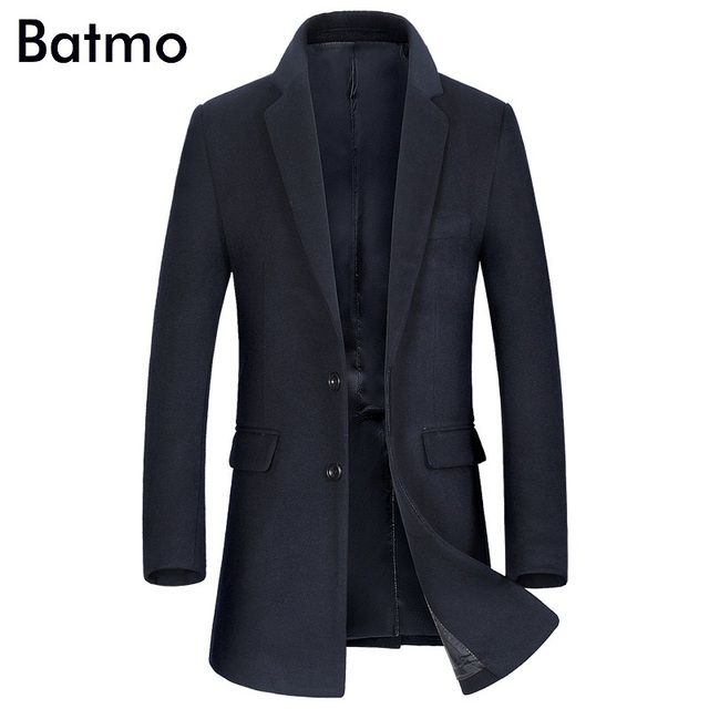 Winterjas Heren Trenchcoat.Batmo 2017 Nieuwe Collectie Winter Hoge Kwaliteit Wol Heren