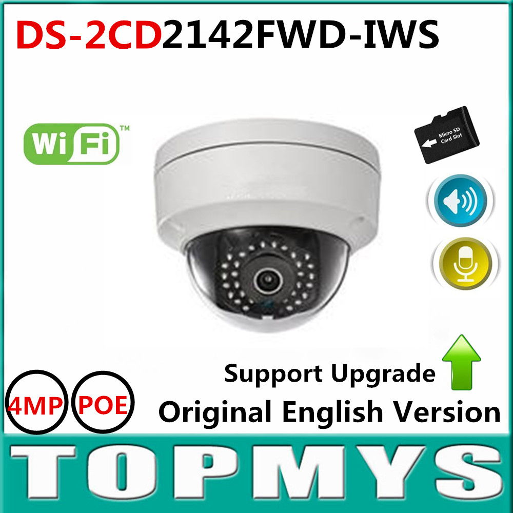 Original English Version DS-2CD2142FWD-IWS 4MP HD POE IP Camera Updatable Alarm I/O Audio onvif Home security IP Camera wifi touchstone teacher s edition 4 with audio cd