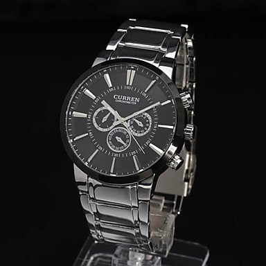 Image 3 - Curren relogios masculinos 2016 Luxury Brand Watch Men Fashion Watch Quartz Business Casual Wristwatch Full Steel Men Watch-in Quartz Watches from Watches