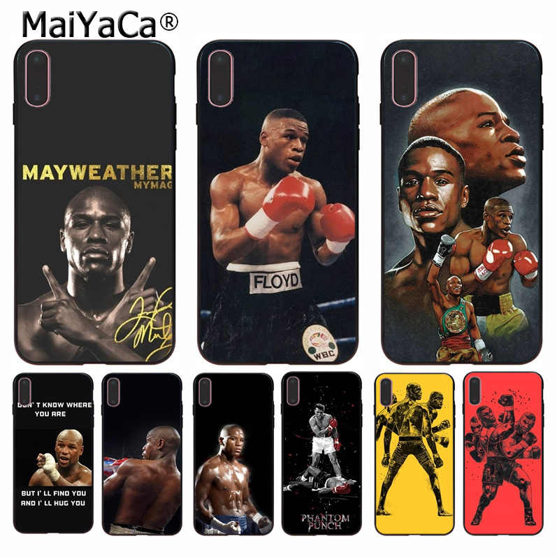 Floyd Mayweather MaiYaCa DIY High-end de Luxo Protector Case para iPhone 5 8 7 6 6S Plus 5S SE XR X XS MAX Coque Shell
