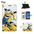 Paradise ME Minions Love Bananas Flip PU Leather Case For Sony Xperia Z5/Z5 Compact/Z5 Preminum