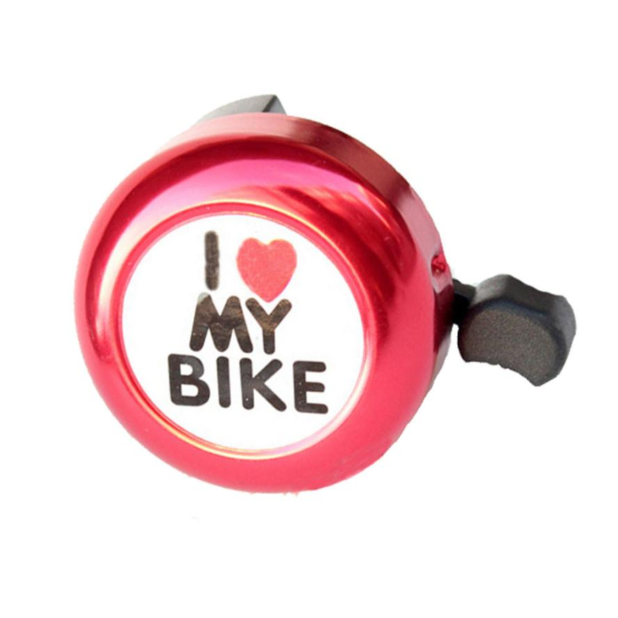 Bicycle Bell Clear and loud sound. Heart Alarm Bike Metal Handlebar Horn bicycle bell For Safety Cycling APril 0802