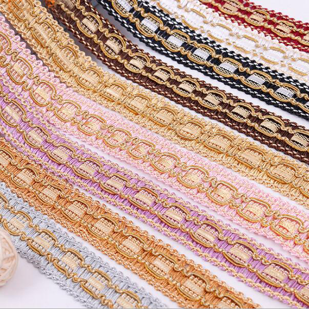Lace 24meters Gold Lace Ribbon Ethnic Trims Curtain Lamp Sofa Pillow Edge Tapestry Centipede Braided Lace Trim Sewing Materials To Prevent And Cure Diseases Arts,crafts & Sewing