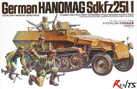 RealTS TAMIYA MODEL 1/35 SCALE military models #35020 German Hanomag Sd.Kfz.251/1 tobyfancy tamiya 1 35 ww2 german steyr type 1500a 01 military miniature ready to assembly model kit