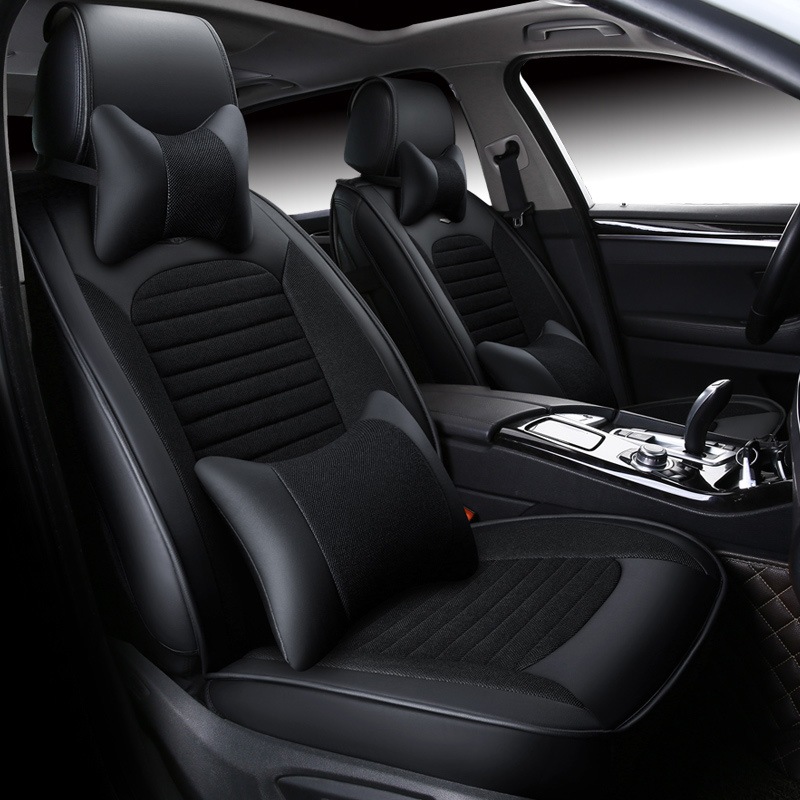 Universal leather car seat covers interior accessories for - Cadillac cts interior accessories ...