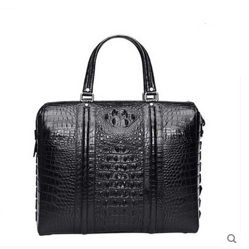 hlt crocodile leather travel men handbag large capacity real crocodile leather business man bag style high grade man щипцы hlt 10