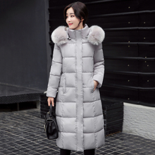 2019 winter jacket women thick warm big fur collar women long coat hooded cotton padded outerwear female parka high quality стоимость