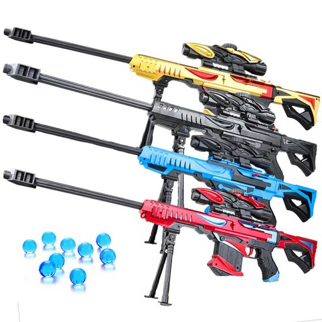 Plastic Toy Gun Weapon Water Bullet Orbeez Manual Loading Boy Sniper Rifle Soft Paintball Outdoor Game Toy for Children Kid Gift