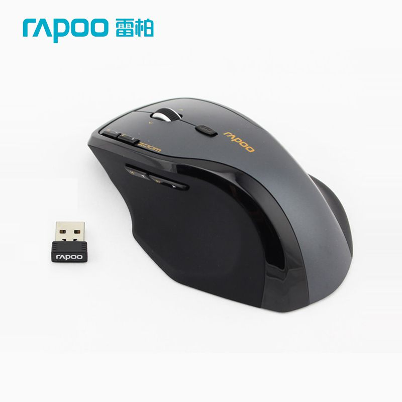 US $52 37 |Rapoo 7600+ Professional Gaming Mouse 2 4G Wireless Optical  Ergonomic Mic With Mini Receiver Free Shipping-in Mice from Computer &  Office