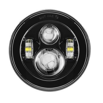 7 ''светодиодный черный проектор фары для мотора улица Glide FLHX Touring/Yamaha V-Star XVS 650 1100 пользовательские Silverado >> Motorcycle & Automobile Parts Store