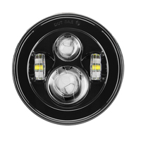 7'' LED Black Projector Daymaker Headlight For Harley Street Glide FLHX Touring/Yamaha V Star XVS 650 1100 Custom Silverado