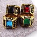 Фирменное ювелирное изделие, ретро стиль, антиквариат, позолото, кристалл, кольцо для мужчин, нержавеющая сталь, большой квадратный камень, кольцо на палец для мужчин, мужское ювелирное изделие