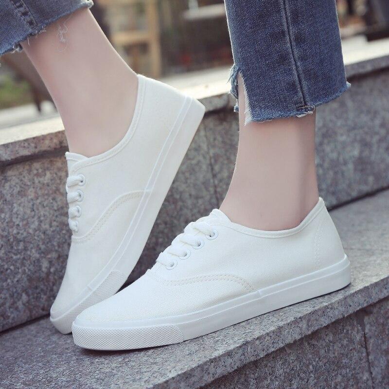 Printemps Fond Petit Sport Étudiants Chaussures Blanc Femmes 15 Légère Respirant Tendance Voile Chaussures De Mode Toile Plat 6 Nouveau pRqrx7p