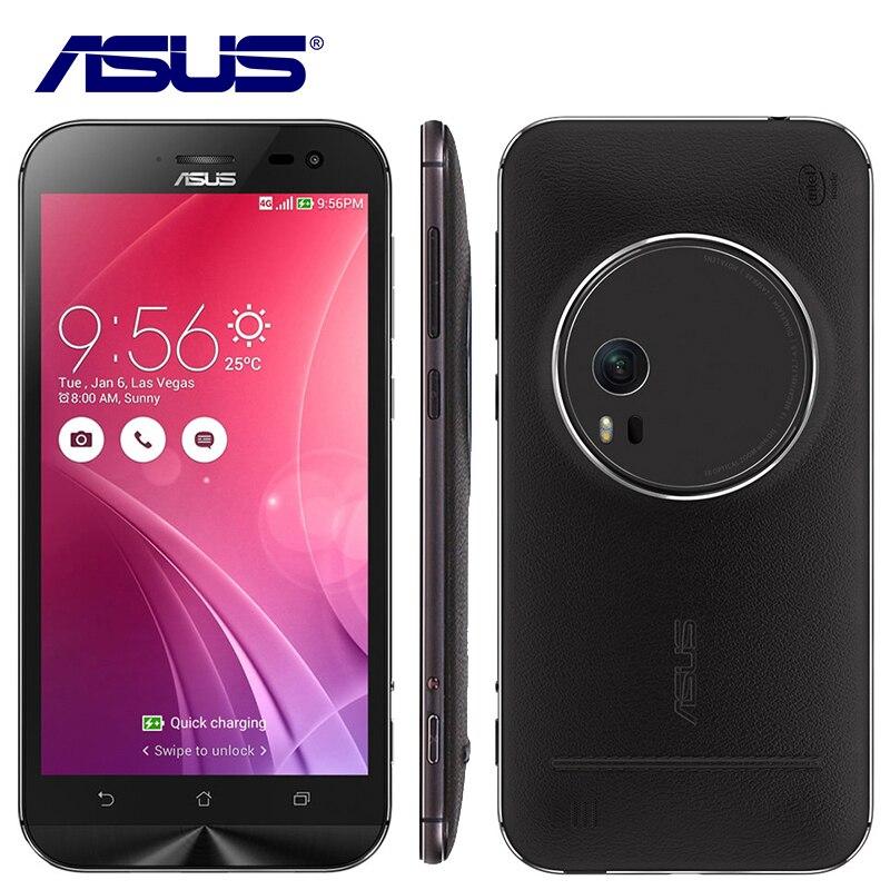 Original Asus Zenfone Zoom ZX551ML Quad Core 4GB RAM 64GB ROM 4G LTE 5.5 inch 13.0MP Camera Smartphone 3000mAh Mobile Phone