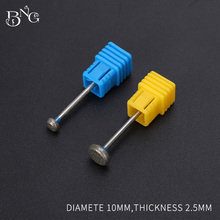 hot deal buy bng 2pcs/lot diamond nail drill milling nail cutter electric nail drill bit for manicure pedicure drill bits accessories