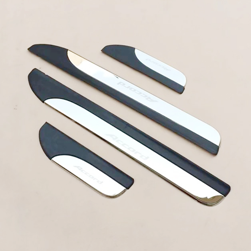 Stainless Steel For <font><b>Honda</b></font> <font><b>Accord</b></font> 2014 2015 <font><b>2016</b></font> Door Sill Trim Protectors Guard Cover Trim Car Styling <font><b>accessories</b></font> 4PCS image